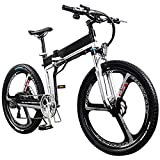 LJ Adult Folding Electric Bike 26-Inch 48V Mountain Bike...