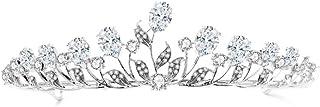 YNYA Tiare Corona Nuziale Corona di zirconi Fascia Accessori per Capelli da Sposa Accessori per Abiti da Sposa Regali di N...