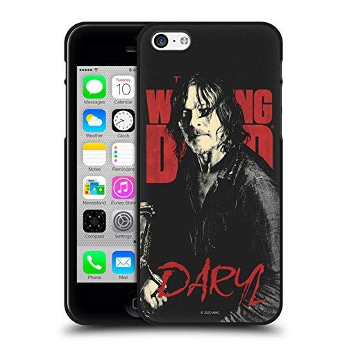 Oficial AMC The Walking Dead Daryl Retratos de Personajes de la Temporada Funda de Gel Negro Compatible con Apple iPhone 5 / iPhone 5s / iPhone SE 2016