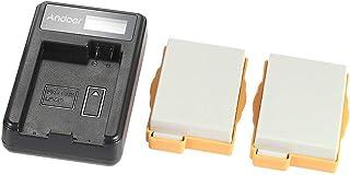 Andoer Portable LED Power Charger with 2pcs 1180mAh LP-E8 Rechargeable Li-ion Lithium Batteries for Canon EOS 550D 600D 70...