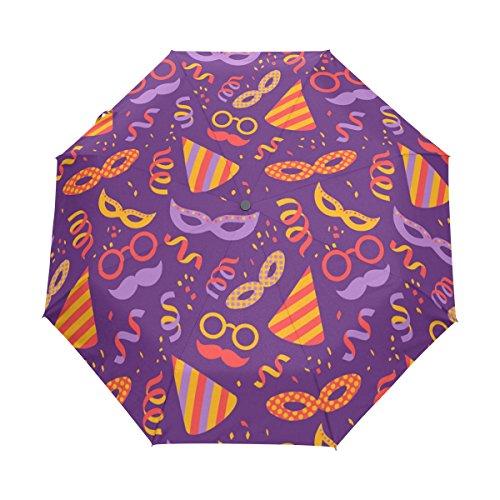 Lindo Vaso Paraguas Plegable Hombre Automático Abrir y Cerrar Antiviento Protección UV...