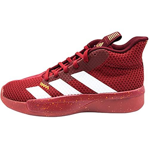 Adidas Pro Next 2019, Zapatillas de Baloncesto Hombre, Rouge Foncã Blanc Rouge Bordeaux, 47 1/3 EU
