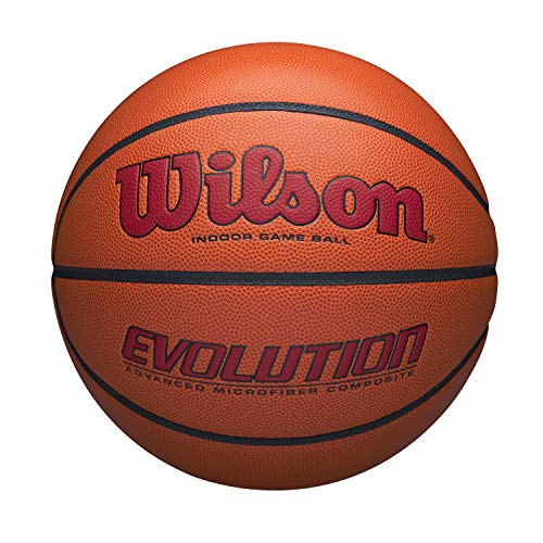 Find Bargain Wilson WTB0595XB0705 Evolution Size Game Basketball-Scarlet, Brown, Official