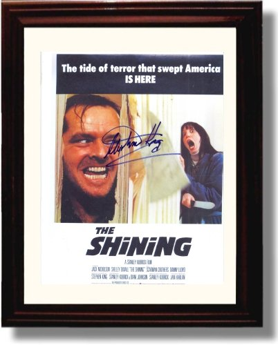 Framed Stephen King Autograph Replica Print - The Shining