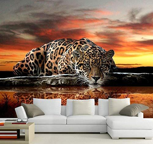 Suwhao Aangepaste fotobehang hoogwaardige luipaarden wandbekleding woonkamer sofa slaapkamer tv achtergrond behang muurschildering contactpapier 200x140cm
