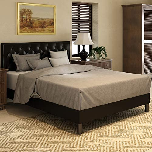Amolife Queen Bed Frame Upholstered Modern Tufted Platform Bed with Adjustable Headboard Mattress product image