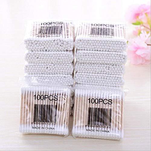 500 pièces de coton-tige à double extrémité, coton-tige cosmétique pour femme, bâtons médicaux, outils de soins de santé pour le nettoyage du nez et des oreilles