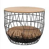 dibea Mesa para gatos mesa lateral mesa con apertura para gatos mesa de centro redonda