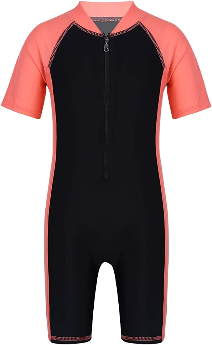 winying Kids Girls Boys One Piece Zip Rash Guard Sun Protection Swimsuit Swimwear UPF 50+ Wetsuit