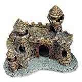 WOREXescultura Grande Decoraciones para acuarios pecera paisajismo Resina rocalla TS Artificial Antiguo Castillo decoración Accesorios