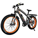 Addmotor MOTAN Electric Mountain Bikes 26 Inch Fat Tires 750W Power Electric Bikes Removable 48V 12.8AH Lithium Battery M-560 P7 Ebikes for Adults+Fenders+Rear Rack (Orange)
