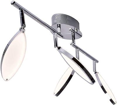 Wofi 7110.04.01.6200 A - Lámpara de techo (metal, 18 W, 87 x 20 x 29 cm), color cromado