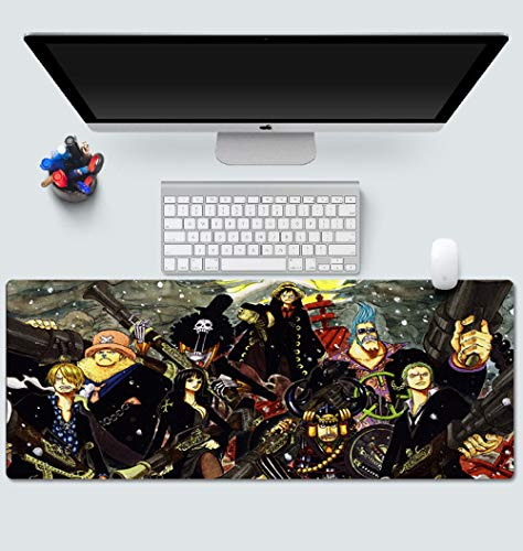 One Piece Mouse Pad Anime Gaming Mouse Pad Costura Bordes Impermeable Mousepad Pixel-Perfect Mouse Mat7003003mm-A_7003003MM