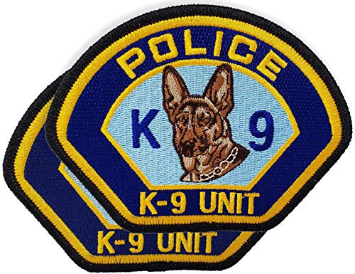 Police K-9 Unit Shoulder Patch – K9 Dog Unit Tactical Badge (2 Pack)