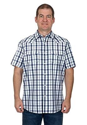Sonoma Men's Western Short Sleeve Shirt a Pearl Snap Plaid Shirt