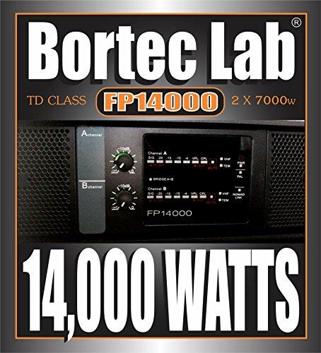 Bortec Lab FP14000/SP 110v 2x7000 Watt RMS TD Professional High Density Touring Power Amplifier