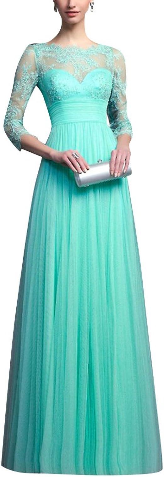 Damen Spitzenkleider Hochzeit Elegant Abendkleider Ballkleid Festkleider Cocktailkleider Partykleider Langes Kleid Amazon De Bekleidung