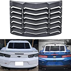 GREAT FITMENT: Perfectly fits for 2016 2017 2018 2019 2020 Chevy Chevrolet Camaro all except convertible. Get this classic and trendy rear window louvers to give your Camaro A Retro Muscle Car Inspired Styling. SUPERIOR QUALITY: Made of high standard...