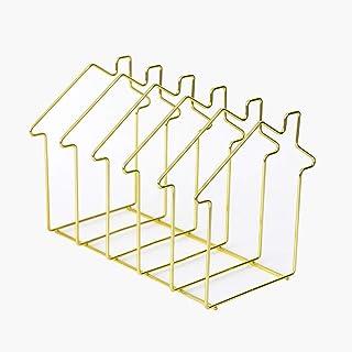 Xegood Organizador GenericSujetalibros de Metal Antideslizante con Forma de Estilo Europeo Simple para Regalo Oficina Esc...