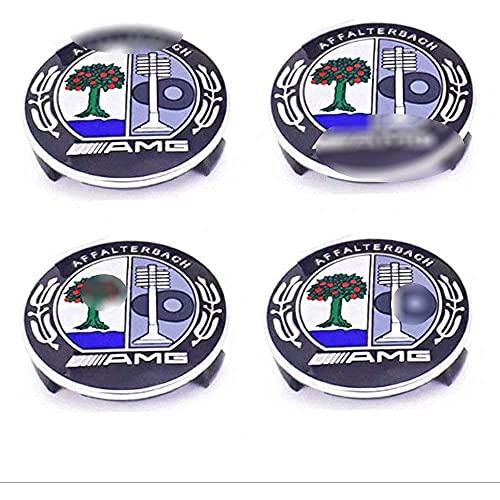 Liuyunding 4 Piezas Tapas Centrales para Llantas para Mercedes Benz, con Logo Rueda Centro Tapacubos Tapas Accesorios De DecoracióN De Coches, 75mm