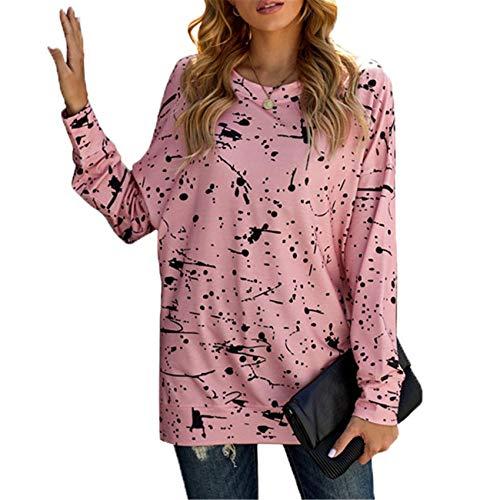 Damen Pullover Streifen Herbst Tie-Dye Rundhalsausschnitt Langarm Street Style Pullover Damen Top