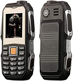 YUN AYM L9 Triple Proofing Elder Phone, Waterproof Shockproof Dustproof, 3800mAh Battery, 1.8 inch, 21 Keys, LED Flashlight, FM, Dual SIM(Black) (Color : Black)