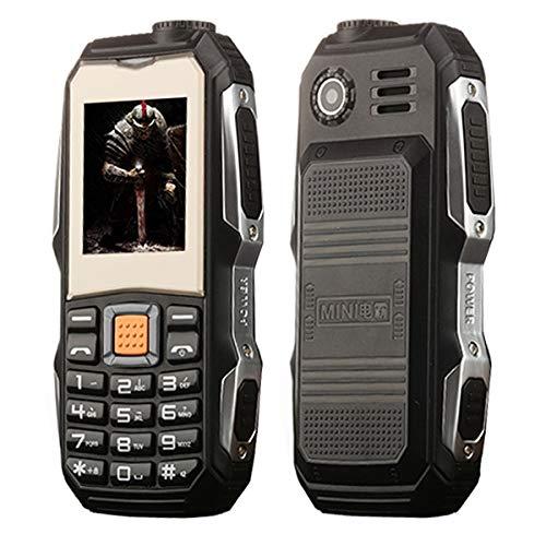 Móviles y Smartphones Libres L9 Triple de corrección de teléfono más Viejo, a Prueba de choques a Prueba de Polvo, 3800mAh batería, 1,8 Pulgadas, 21 Teclas, Linterna LED, etc. (Color : Negro)
