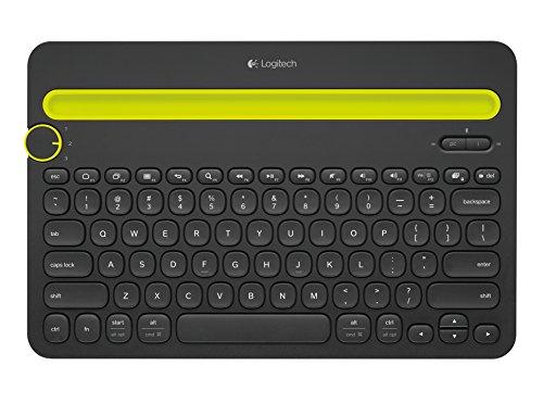 Logitech K480 Tastiera Wireless Multidispositivo per Windows, Apple iOS, Android o Chrome, Bluetooth Wireless, Design Compatto, PC Mac Laptop Smartphone Tablet, Layout Italiano QWERTY - Nero
