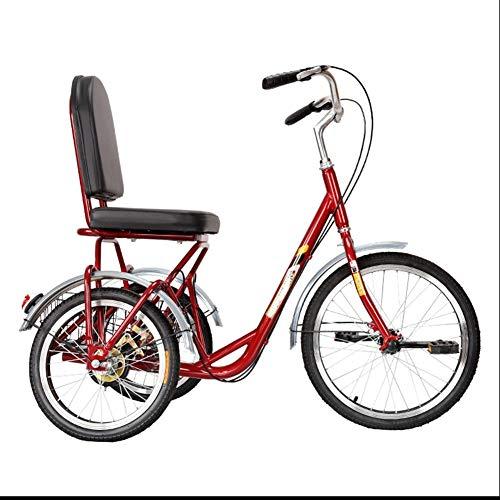Tricycle for Adults Fast Sendung Erwachsene Dreiräder Single Geschwindigkeit 20 Zinch 3 Radfahrräder Fahrräder Kreuzfahrt Trike Mit Heckkorbkorb Für Senioren, Frauen, Männer