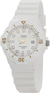 Casio Women's White Dial Resin Analog Watch - LRW-200H-7E2VDF