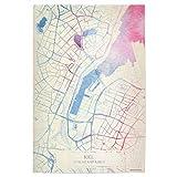 artboxONE Poster 30x20 cm Städte Kiel Deutschland Map Rose