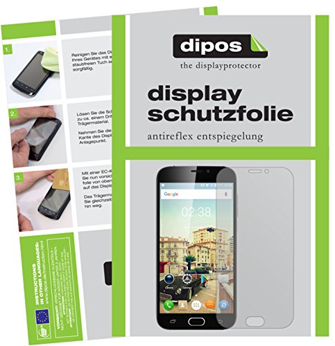 dipos I 6X Schutzfolie matt kompatibel mit Doogee X9 Pro Folie Bildschirmschutzfolie