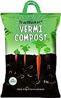 TrustBasket Organic Vermicompost Fertilizer Manure for Plants - 5 KG