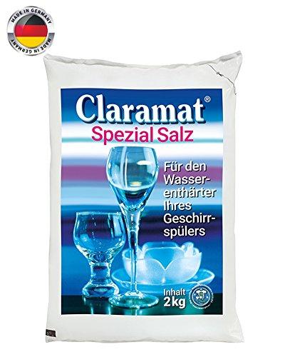 Claramat Spezial Salz / 2kg Beutel / Regeneriersalz / Wasserenthärteranlagen / Geschirrspülmaschine