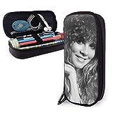 Estuche de lápices de cuero Stevie Nicks Estuche de lápices Estuche de maquillaje para escuela/oficina