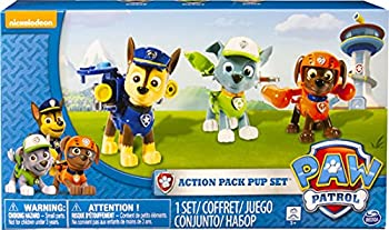 Paw Patrol Action Pack Pups 3pk Figure Set Chase Rocky Zuma,Multicolor