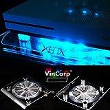 VINCORP Ventilador con USB para Xbox One X Project Scorpio/S / 360 (LED, 19 cm), color azul
