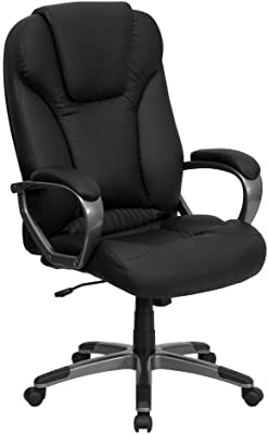 Amazon Com Ergonomic Office Chair Desk Chair Computer Chair With Lumbar Support Arms Executive Rolling Swivel Pu Leather Task Chair For Women Adults Black Furniture Decor