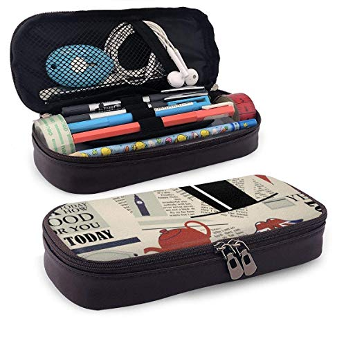 London News Today Large Capacity Stationery Bag Basic Pencil Cases