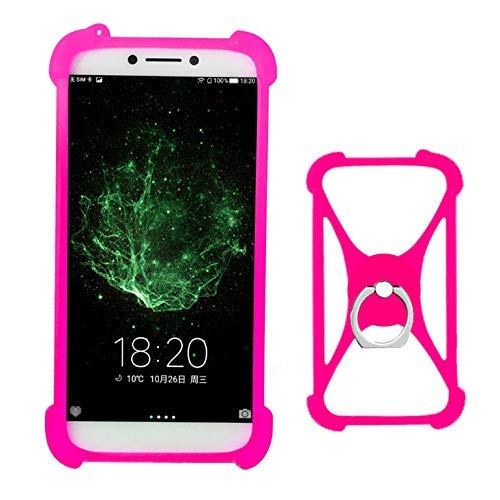 Lankashi Rose Stand Ring Holder Soft Silicone Protective Case Cover for DOOGEE Mix 2 X5S X30 X20 X10 X70 Y6 T3 X6 X7 X9 Mini H10 Homtom HT10 HT37 HT30 Pro HT50 HT3 HT5 HT6 HT7 S16 S9 Plus Rainbow 2