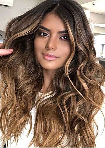 LaaVoo 18 Zoll Real Haar Bündelt Brasilianische Echthaar Doppelte Seiten Nähen in Haarverlängerung #4/18/4 Dunkelbraun zu Aschblond Mischen Dunkelbruan 100g