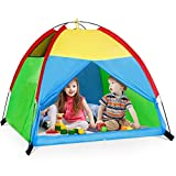 Kids Play Tent for Boys and Girls, Foldable Toddler Playhouse Toys for Baby Indoor/Outdoor Play Games, Imaginative Children Gifts (Colorful Tent)