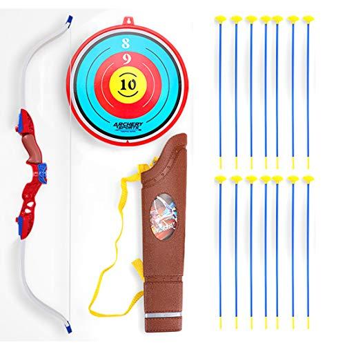 FADF Bogenschießset, 14Pcs Pfeilspiel im Freien Bogenschießset, Bogen- und Pfeilset für Kinder