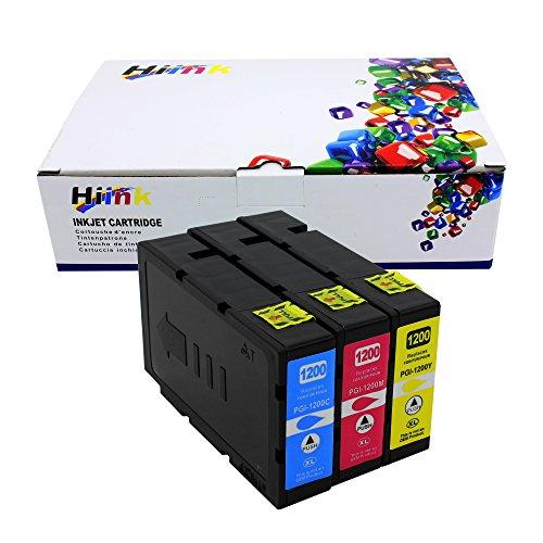 Hi de tinta 5Pk PGI-1200X L 1200XL Cartuchos de tinta para Canon MAXIFY mb2020mb2220mb2320mb2720, color Pack de 3
