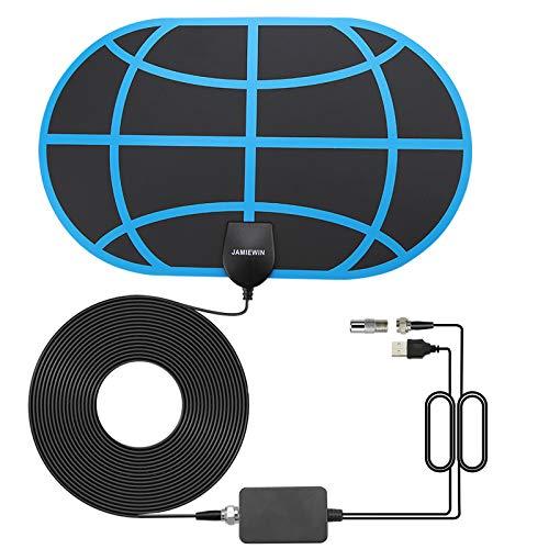 JAMIEWIN TV Aerial 4K Digital Indoor Ariel for TV Freeview with Amplifier...