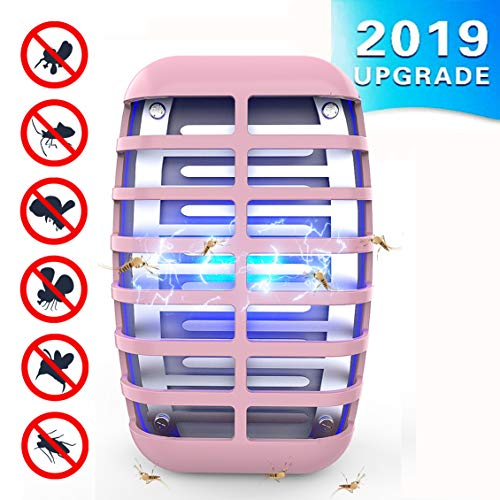 Greatico 2 Zapper Killer lamp Radiation-Bee, Trap, Pink
