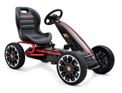 ABARTH Kinder Pedal Go-Kart, Lizenz, Rutscher Auto, Pedal Go Cart, Shaum Reifen Eva Wheels 3–8 Jahre scharz
