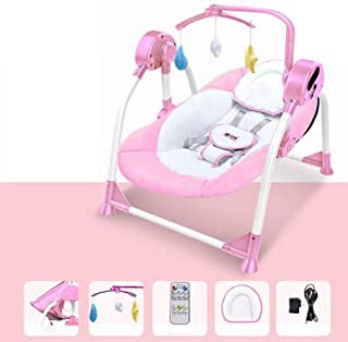 tewun Columpio y Asiento para bebés eléctricos para recién Nacidos, melodías Musicales Bluetooth Vibración Relajante Silla de Descanso reclinable para bebés, Cuna, Hamaca, para niños de 0 a 18 Meses