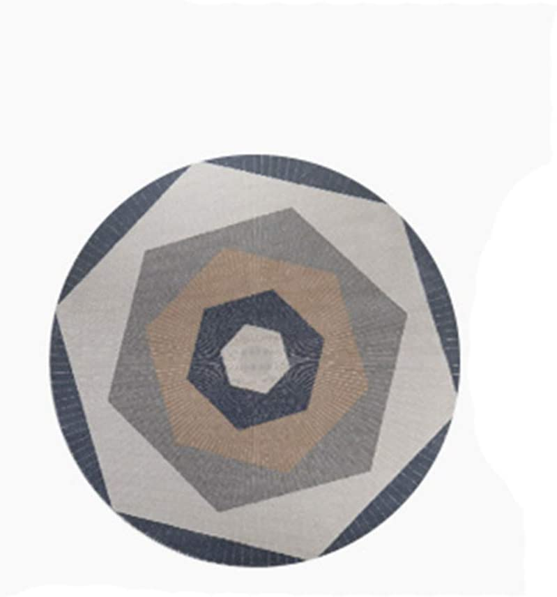 ZXT-DT Max 79% OFF Uphome Round Area Rug Cotton Non-Slip Ru No-Shedding Shipping included