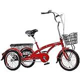 ZJZ Triciclos para Adultos, Bicicleta de Tres Ruedas Plegable de 24 Pulgadas y 7 velocidades con Cesta de la Compra, Bicicleta de Ciudad Simple y Moderna para IR de Compras